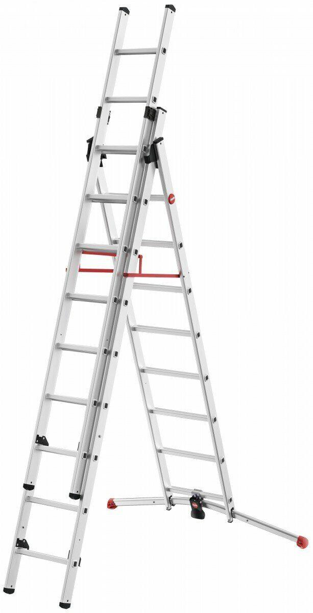 Лестница-стремянка ProfiLOT 2x9+1x8 Алюминиевая Hailo 9309-507