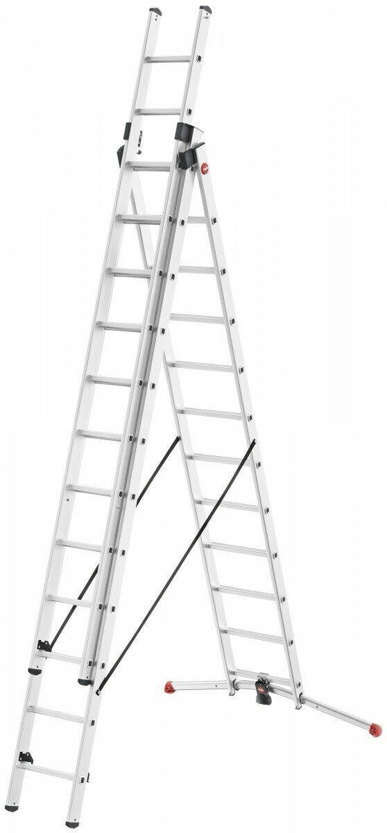 Лестница-стремянка ProfiLOT 3x12 Алюминиевая Hailo 9312-507